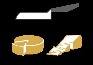 Tipologia di taglio formaggio 2