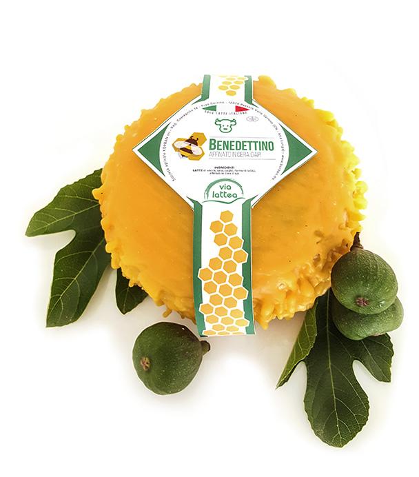 Benedettino formaggio stagionato in cera d'api