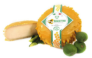 Benedettino formaggio affinato in cera d'api