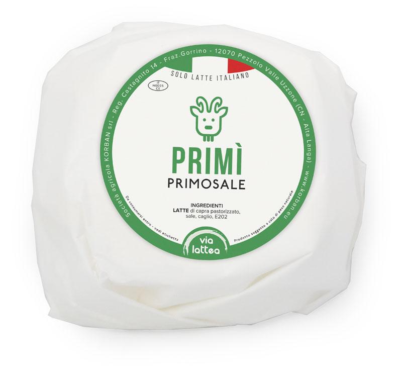Primì formaggio primosale di capra, Via Lattea - società agricola Korban
