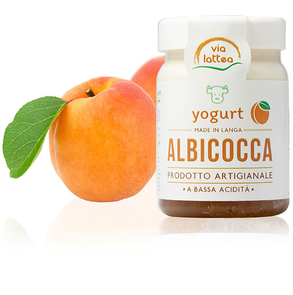 Yogurt vaccino di Langa all'albicocca Via Lattea