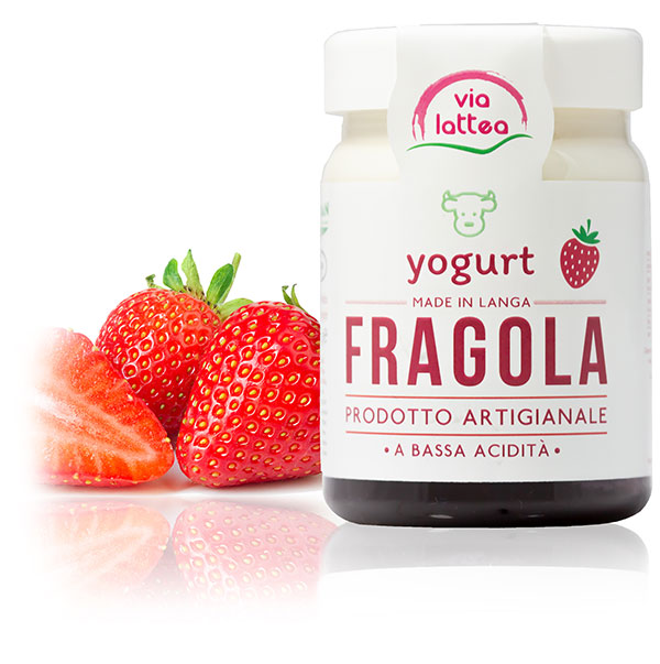 Yogurt vaccino di Langa alla fragola Via Lattea