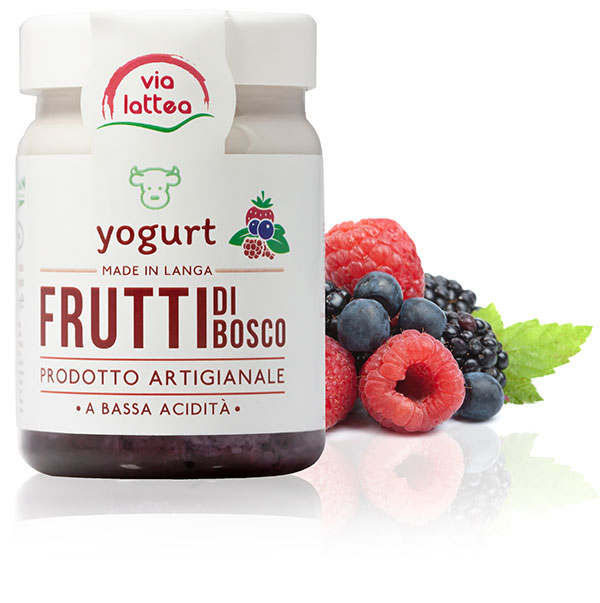 Yogurt vaccino di Langa ai frutti di bosco Via Lattea