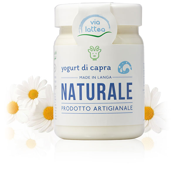 Yogurt di capra di Langa naturale Via Lattea